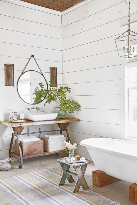37 Rustic Bathroom Decor Ideas - Rustic Modern Bathroom ...