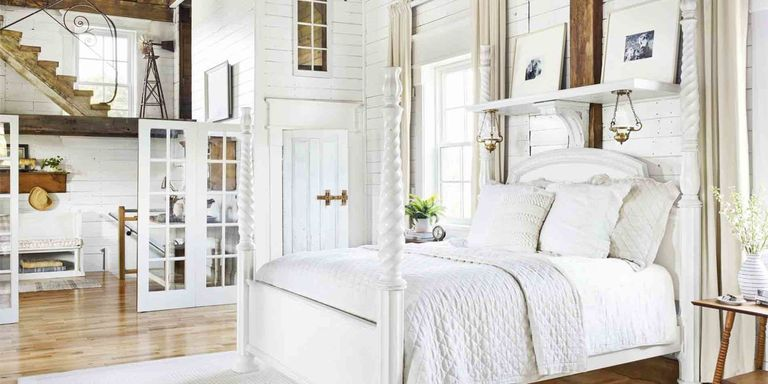 28 best white bedroom ideas how to decorate a white bedroom for Best way to decorate bedroom
