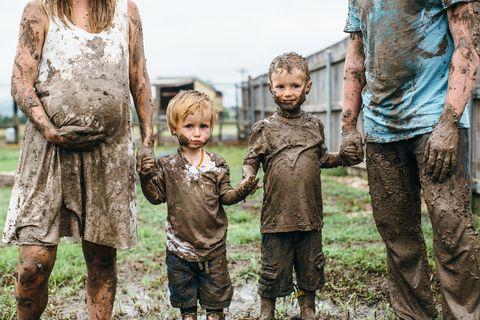 People, Child, Adaptation, Mud, Human, Fun, Tree, Gesture, Play,