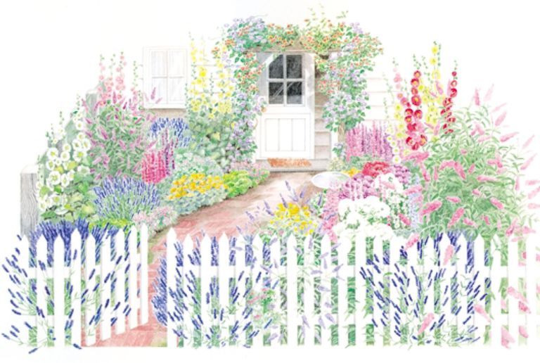 gallery-1490029863-54e9e8ddcbc81-cottage-garden Layout Design For Small Flower Cutting Garden on ideas for small flower gardens, designs for small flower gardens, plans for small flower gardens,