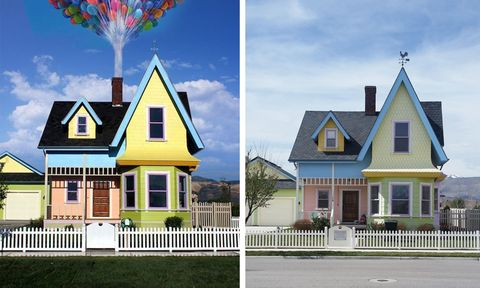 this re creation of the house from up is just as cute as the movie
