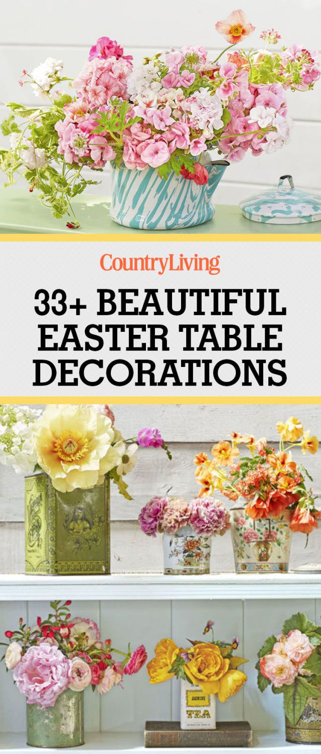 Save These Ideas. Save these Easter decorating ...  sc 1 st  Country Living Magazine & 40+ Easter Table Decorations - Centerpieces for Easter