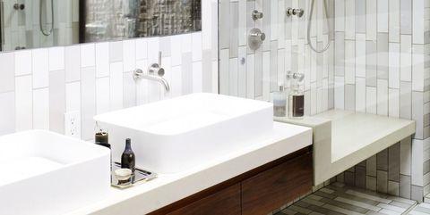 Bathroom, Room, Tile, Property, Interior design, Tap, Wall, Ceiling, Architecture, Floor,