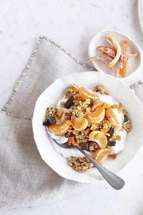 candied orange peel granola