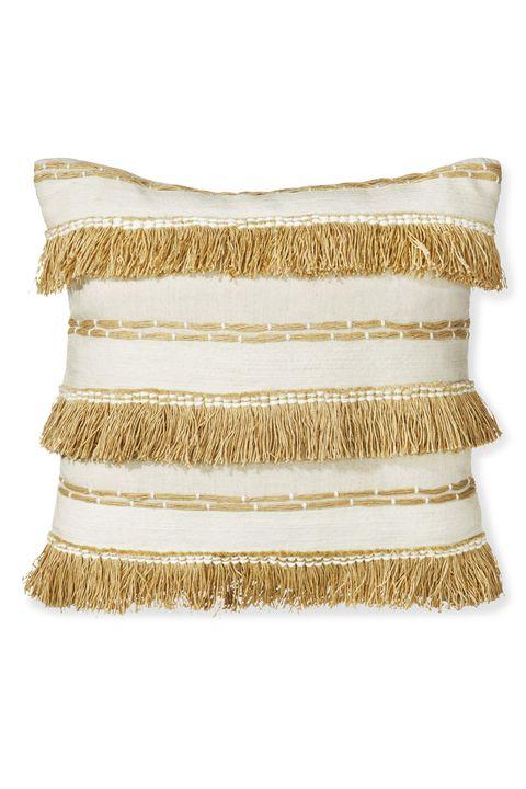 Beige, Pillow, Cushion, Furniture, Textile, Linens, Throw pillow, Rectangle,