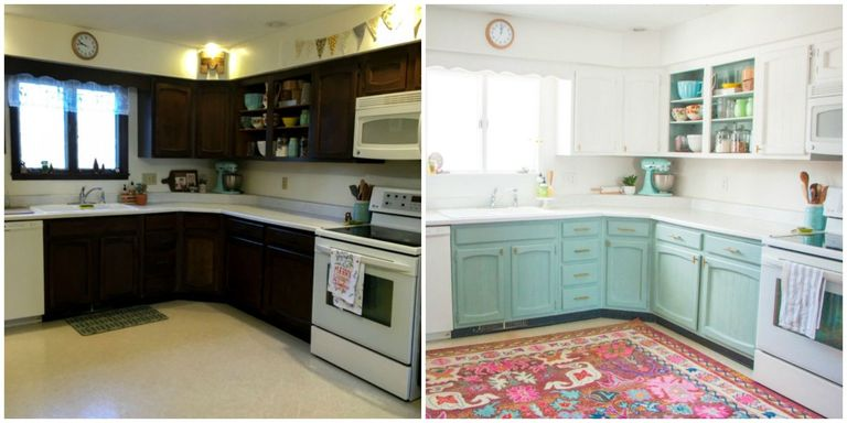 This Bright and Cheery Kitchen Renovation Cost Just $250 - Cheap ...