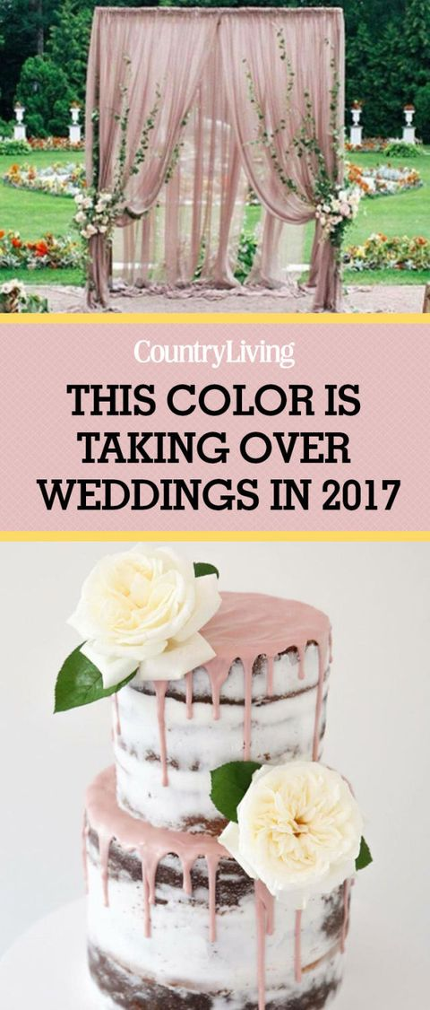 Dusty Rose Is The Wedding Color Of 2017 Pink Wedding Ideas