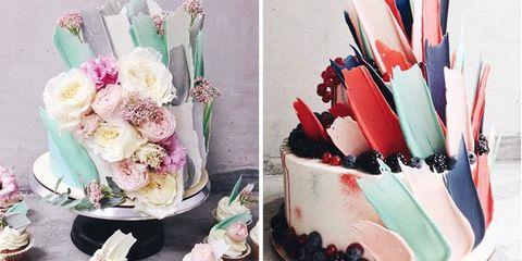 Pink, Cake, Cake decorating, Flower, Buttercream, Dessert, Food, Plant, Wedding ceremony supply, Icing,