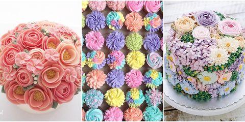 Cupcake, Petal, Dessert, Sweetness, Pink, Food, Purple, Cake decorating supply, Baked goods, Flowering plant,
