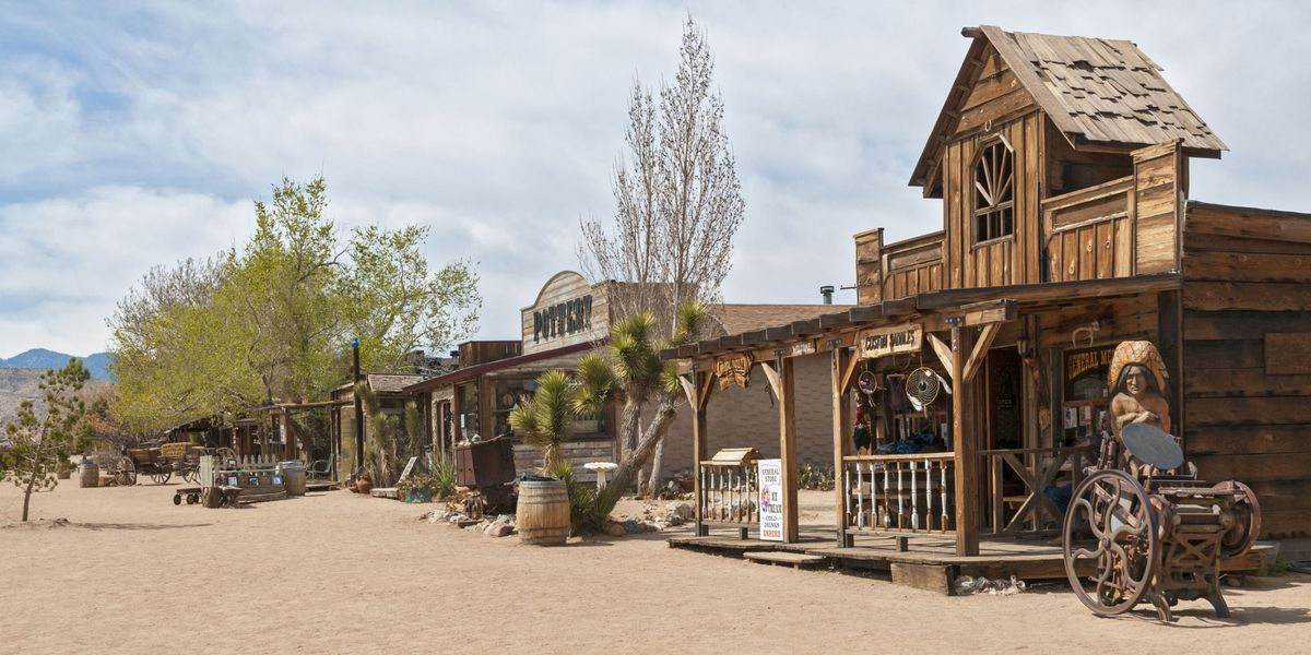 this town in the california desert is an old western movie