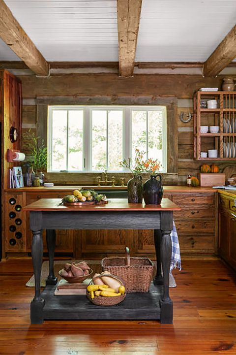 24 Farmhouse Style Kitchens - Rustic Decor Ideas for Kitchens on red cabinets for kitchen, contemporary cabinets for kitchen, cherry cabinets for kitchen, kitchen cabinets for kitchen, modern cabinets for kitchen, barn cabinets for kitchen, western cabinets for kitchen,