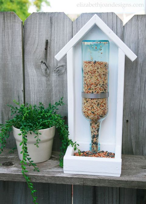 Green, Bird feeder, Plant, Herb, Wood, House, Flowerpot,