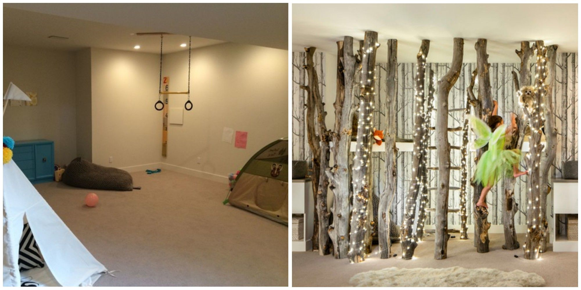 This Beautiful Indoor Forest Playroom Transformation Will Knock