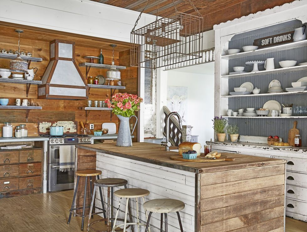 24 Farmhouse Style Kitchens - Rustic Decor Ideas for Kitchens on