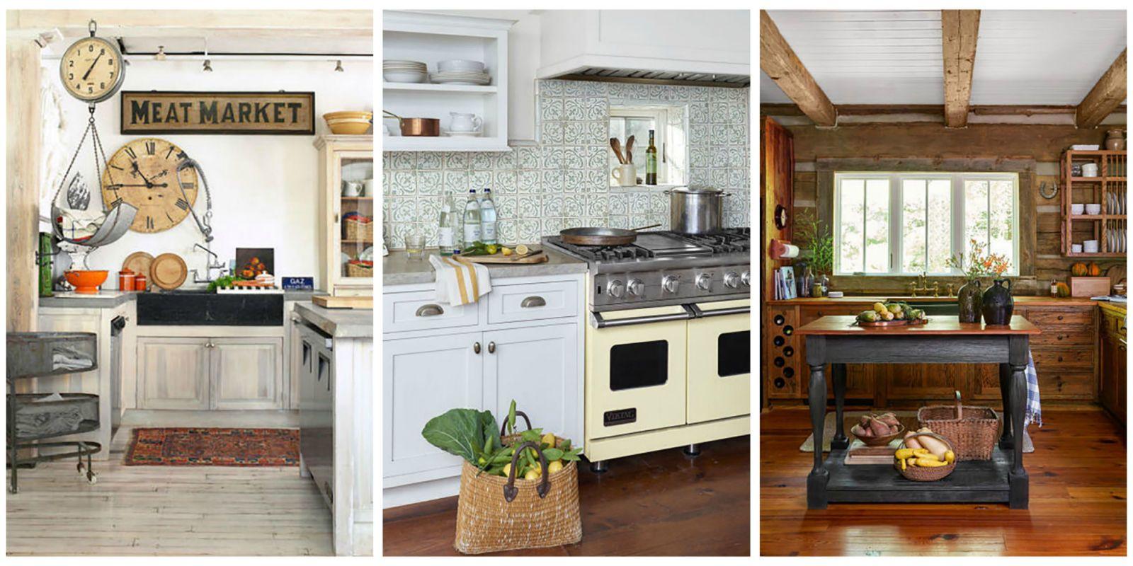 & 18 Farmhouse Style Kitchens - Rustic Decor Ideas for Kitchens kurilladesign.com
