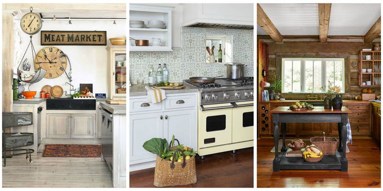 18 farmhouse style kitchens rustic decor ideas for kitchens for Country themed kitchen ideas