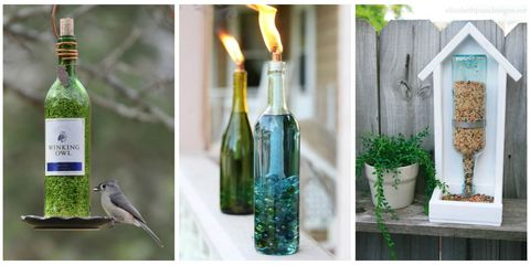 Wine Bottle Garden Crafts - How to Use Recycled Bottles In
