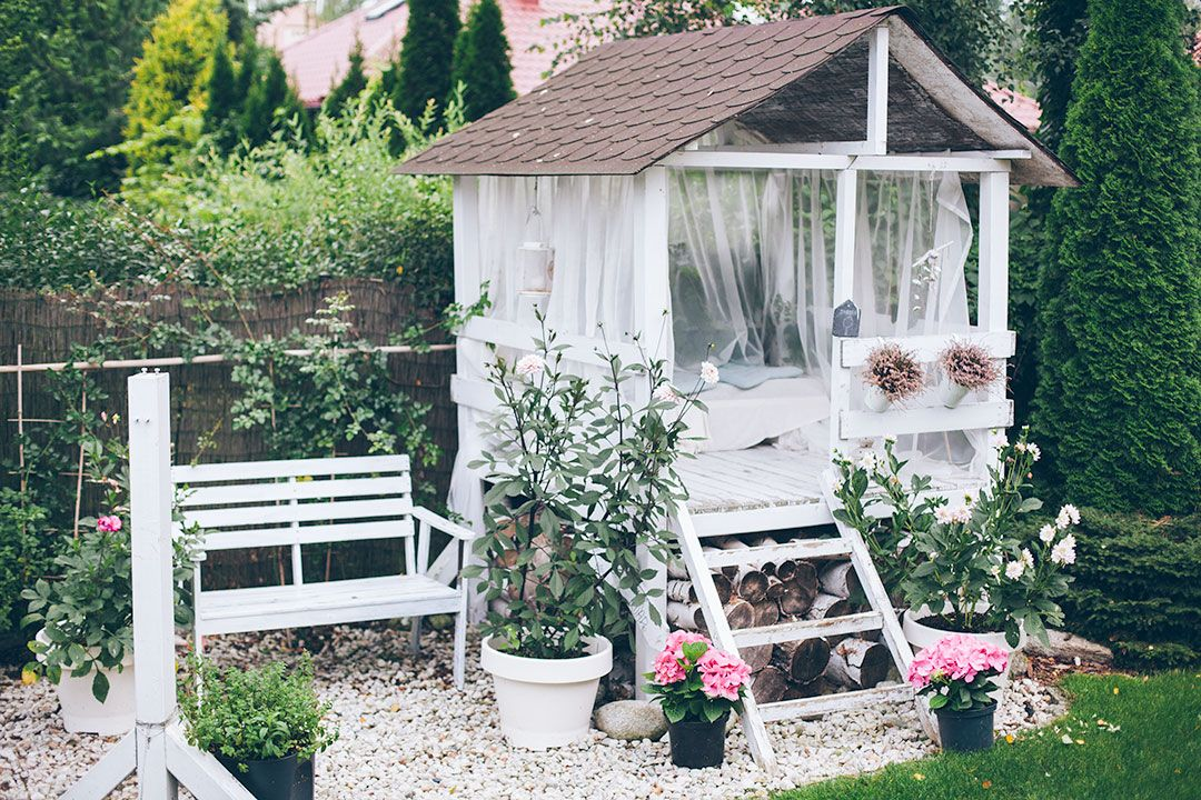 Visit An Enchanted Garden With A Pretty Playhouse