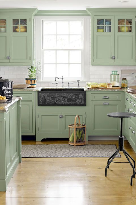 Green Kitchen Miki Duisterhof Colorful Cabinets