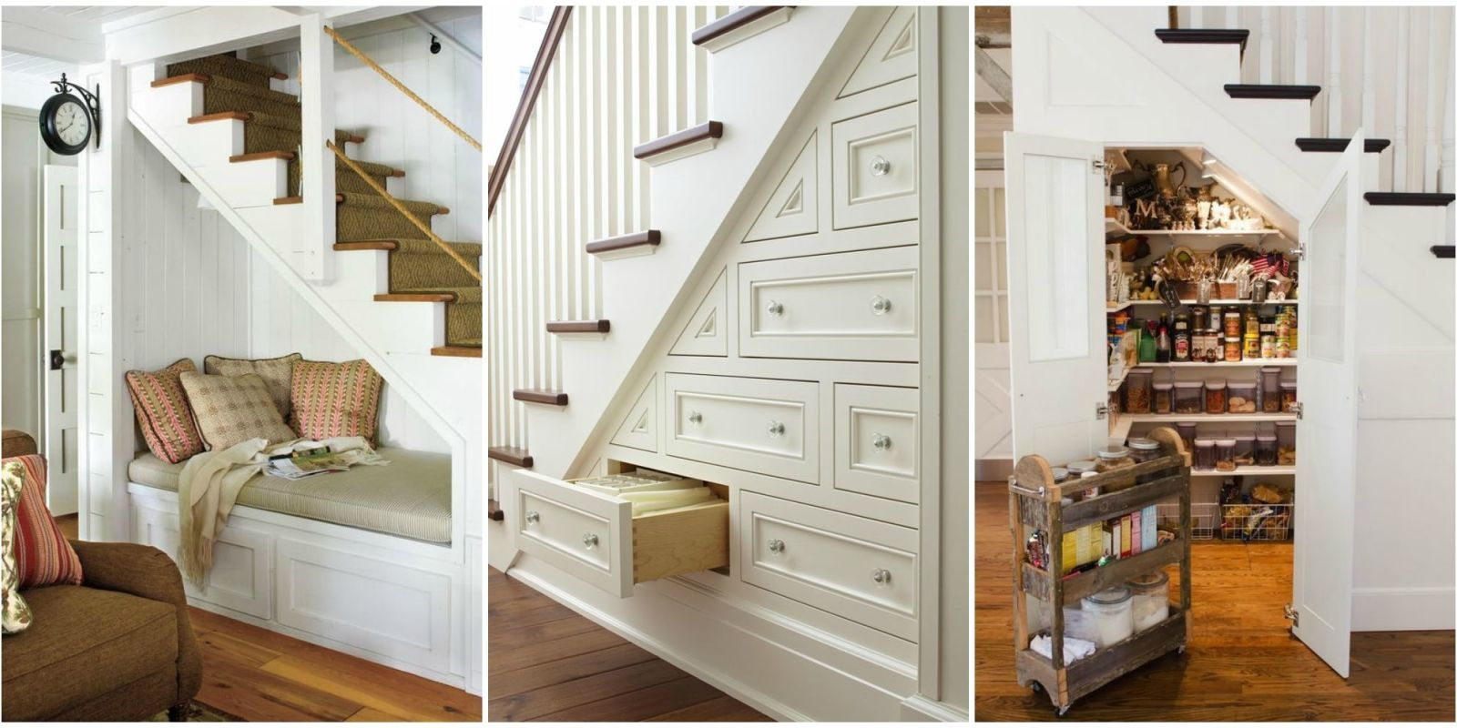 Exceptionnel 15 Genius Under Stairs Storage Ideas   What To Do With Empty Space Under  Stairs