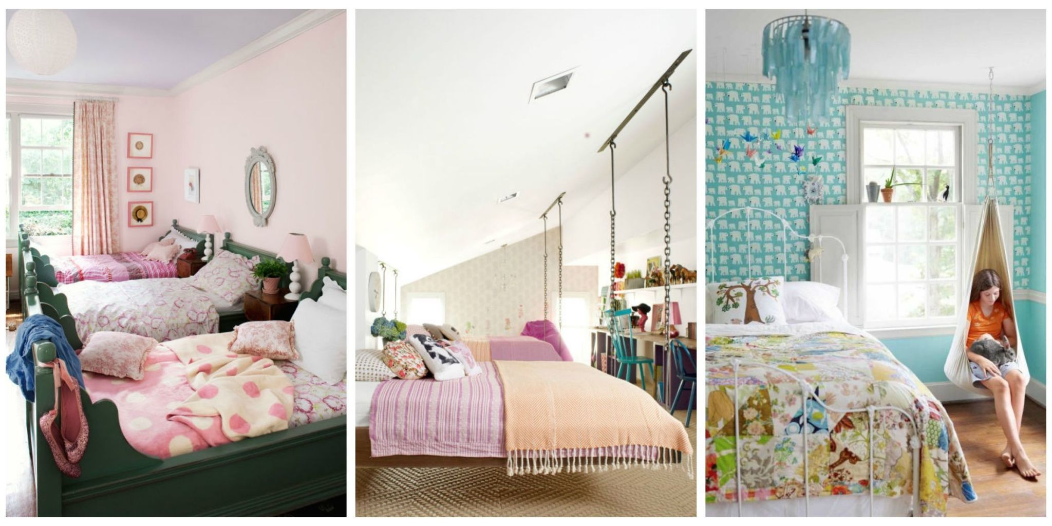 Your daughter will love a room filled with color patterns and cute accessories! Click through to find oh-so-pretty bedroom decorating ideas for girls of ... & 12 Fun Girl\u0027s Bedroom Decor Ideas - Cute Room Decorating for Girls