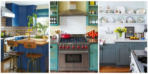 Beautiful Blue Kitchen Decorating Ideas Best Blue Paints For - Best blue for kitchen cabinets