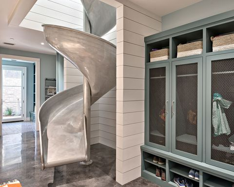 Home Has an Indoor Slide — Indoor Slide Doubles as a Laundry Chute