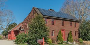 new england saltbox house home of yale founder