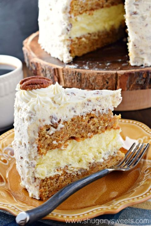 Dish, Food, Cuisine, Dessert, Buttercream, Ingredient, Baked goods, Snack cake, Cake, Carrot cake,