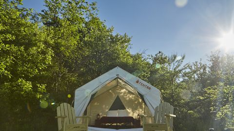 Architecture, Tree, Tent, Building, House, Home, State park,