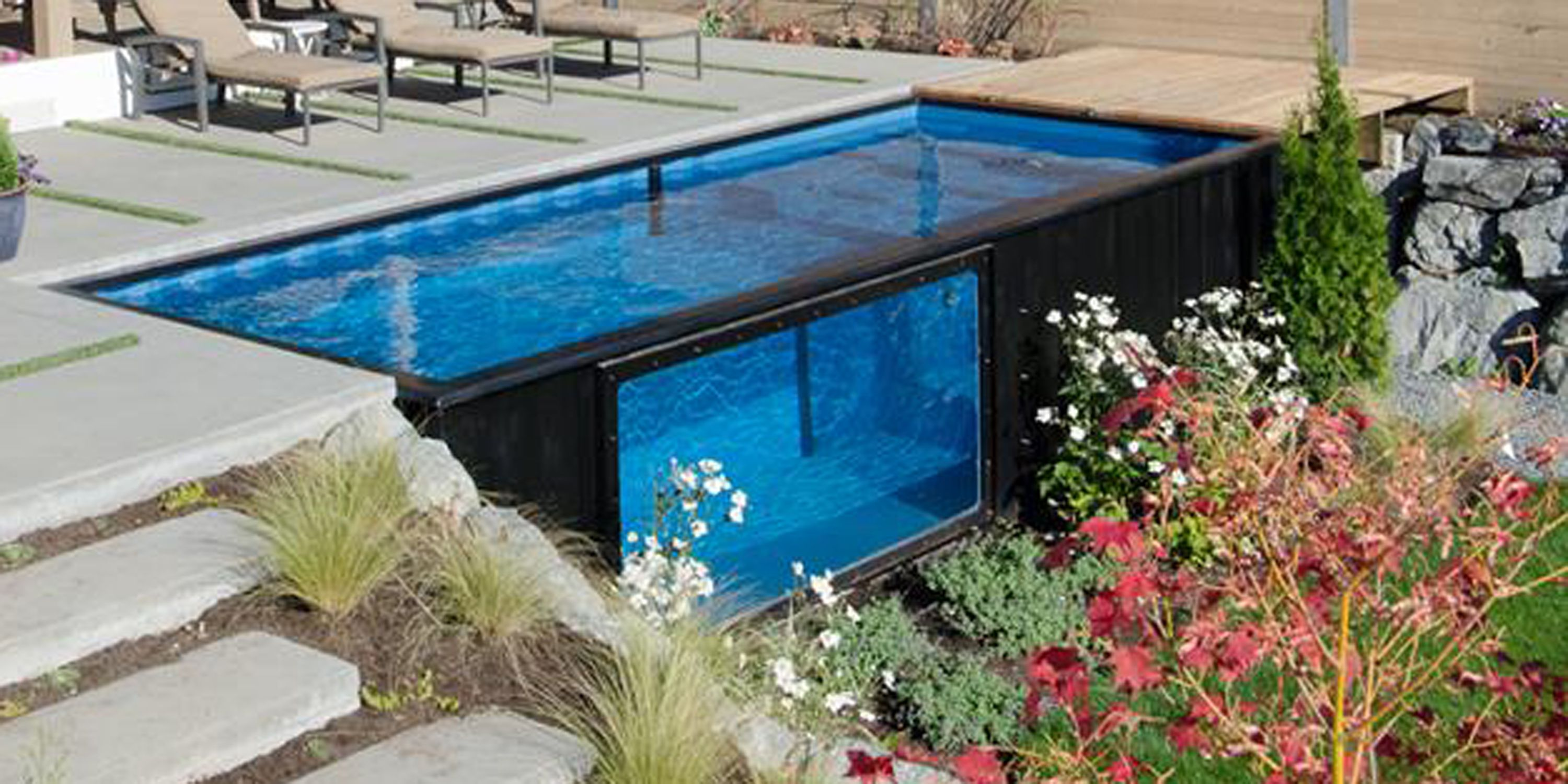 This Incredible Heated Pool Was Made from a Shipping Container