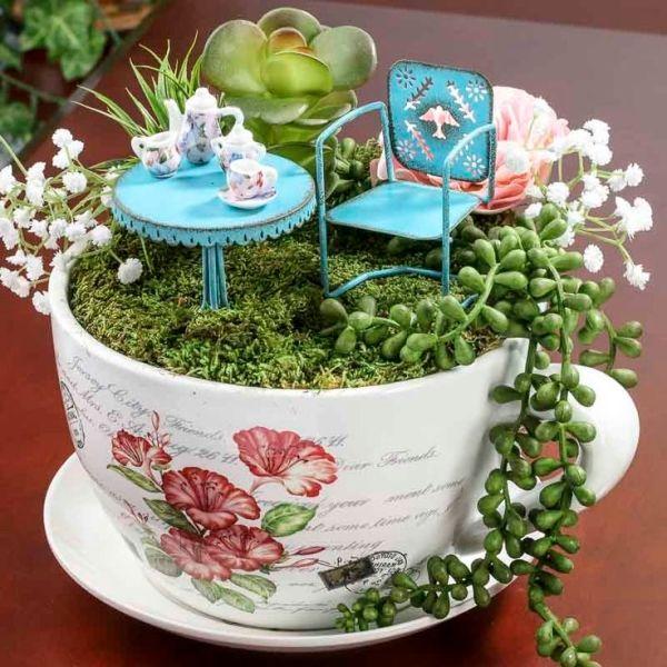 Teacup Fairy Gardens Pinterest Fairy Gardens