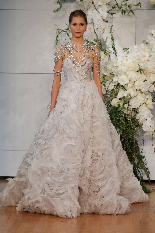 Reem Acra Blush Wedding Dress. Reem Acra Designed The Brideus Dress ...