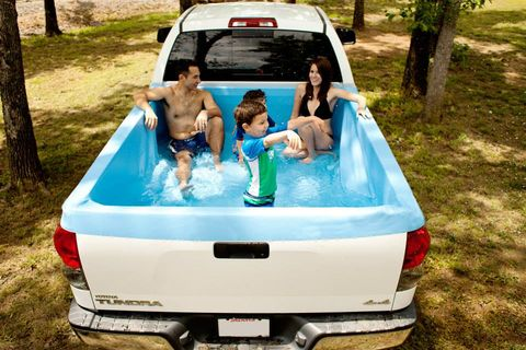Portable Swimming Pool Turns Your Pickup Truck Into The