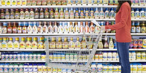 Retail, Convenience store, Supermarket, Grocery store, Trade, Plastic bottle, Bottle, Shelving, Selling, Customer,