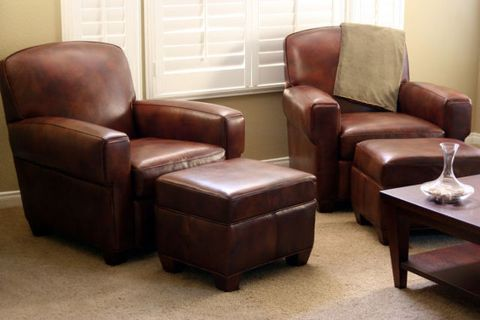 Brown, Furniture, Hardwood, Floor, Club chair, Tan, Armrest, Leather, Coffee table, Recliner,