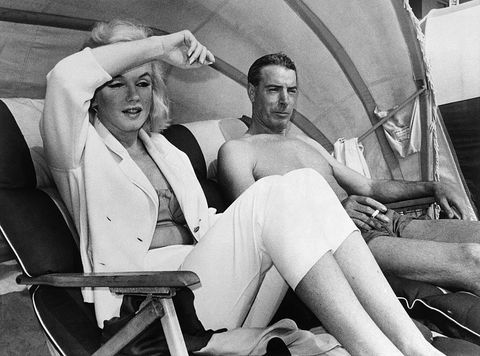 monroe and dimaggio on the beach in florida