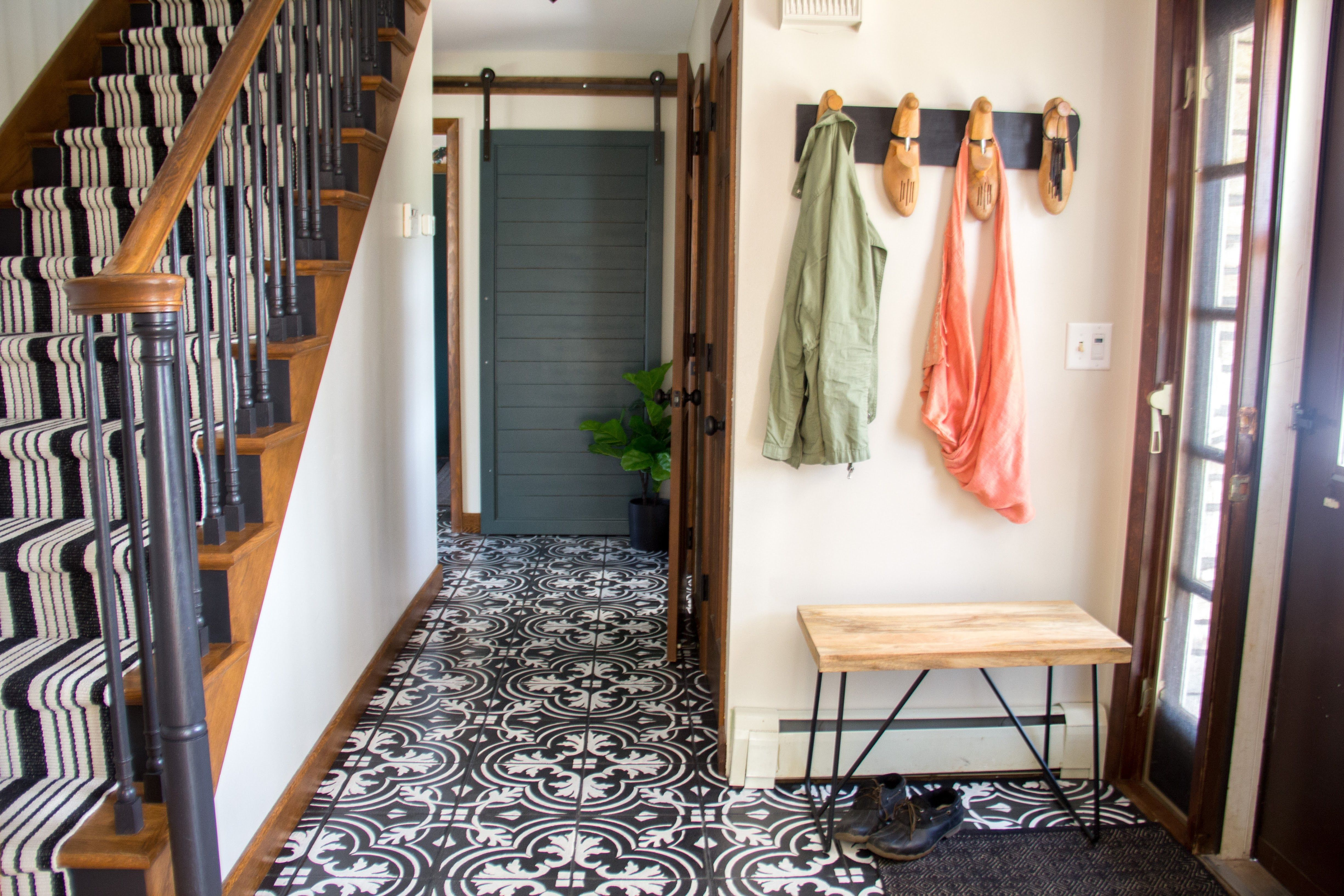 This Woman Transformed Her Tile Floors With Stencils, and the Results are Amazing