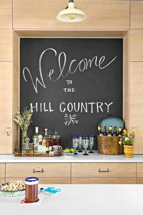 Blackboard, Wall, Text, Font, Room, Calligraphy, Chalk, Interior design, Home, Brunch,