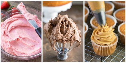 Food, Cuisine, Buttercream, Gelato, Ice cream, Icing, Dessert, Frozen dessert, Cupcake, Dish,