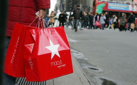 Macy's shopping bags