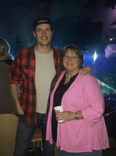 Clayton Anderson and his mom