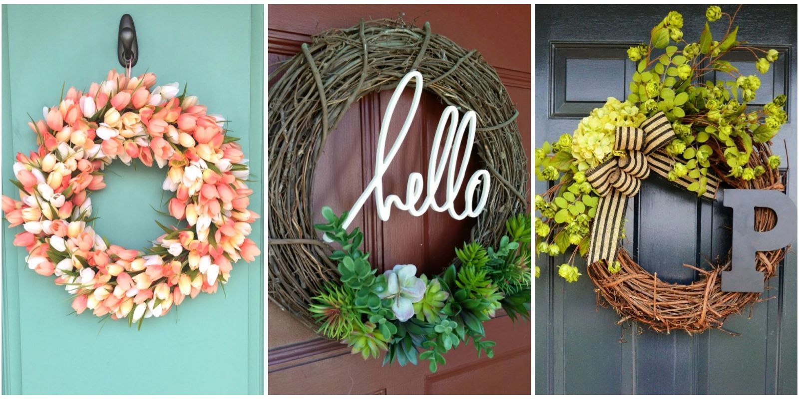 Use Your Free Time This Summer To Make A Sweet DIY Wreath For Your Front  Door.