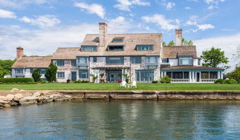 Property, House, Estate, Waterway, Home, Building, Mansion, Water, River, Bank,