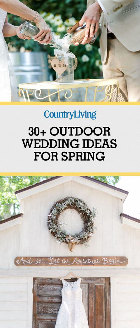 Save These Ideas Outdoor Spring Wedding