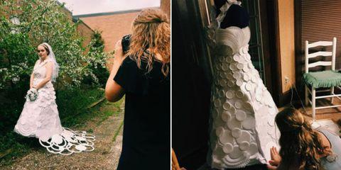 styrofoam wedding dress