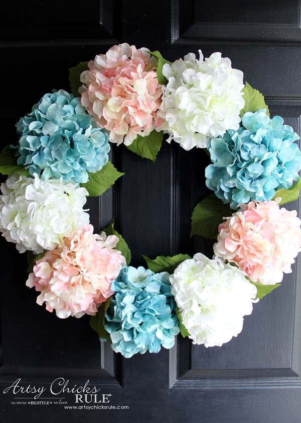 & 10 DIY Summer Wreath Ideas - Outdoor Front Door Wreaths for Summer