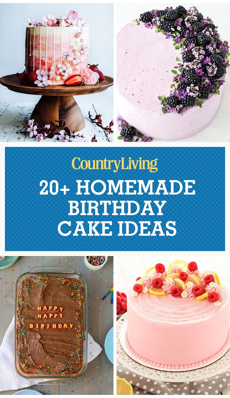 24 Homemade Birthday Cake Ideas