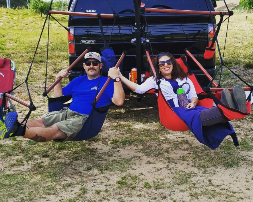 This Mobile Truck Swing Is Perfect For Summer Relaxation   Trailer Hitch  Hammock