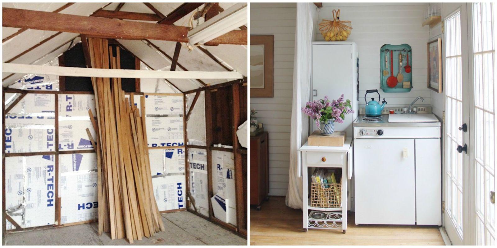 Designing a tiny house Interior Couple Turns Grandmas Garage Into Tiny House Tiny House Talk Small Home Decorating Ideas Tumbleweed Tiny House